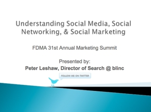 Peter Leshaw's presentation click here to view