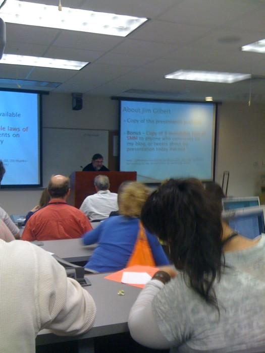 Jim Gilbert Presenting at WordCamp Miami 2010